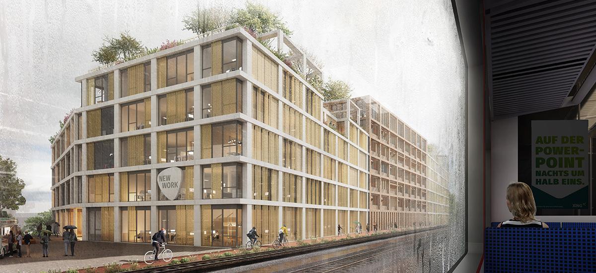 Nachhaltige Fassade auf dem Xing-Campus