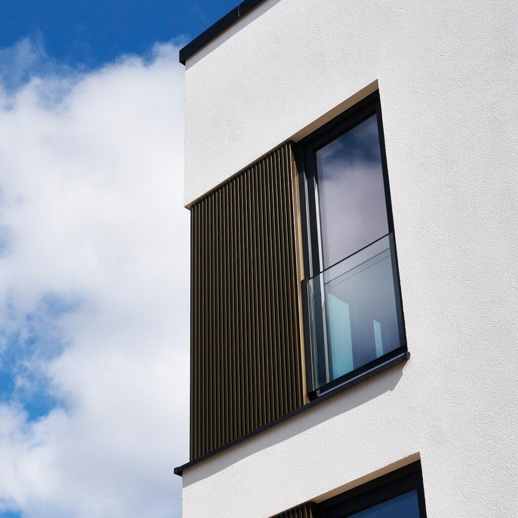 Gedämmte KfW-Effizienzhaus Fassade