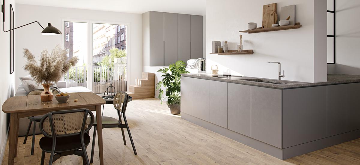 Möblierung für smartes Wohnen in der Repsoldstrasse