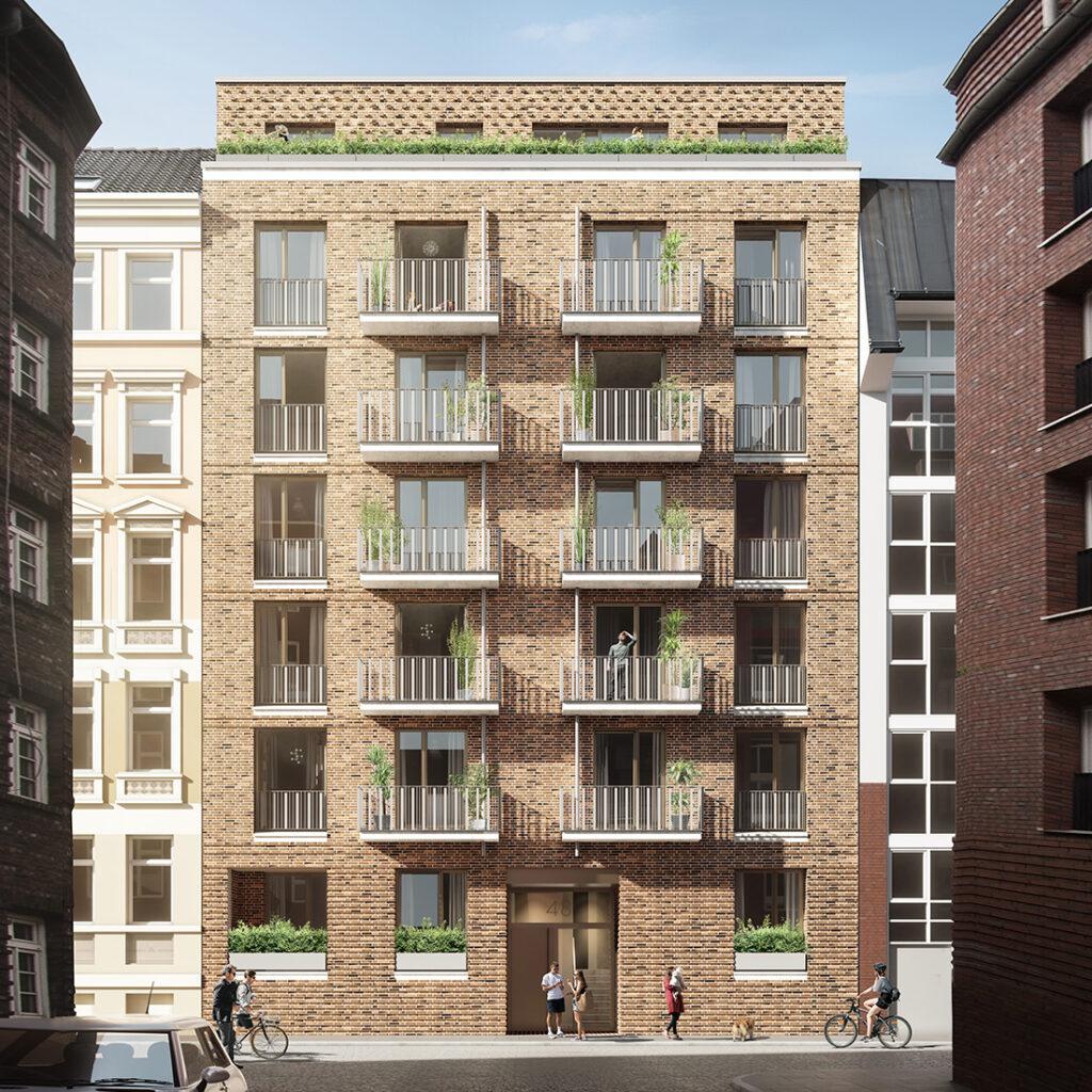 Co2-neutraler Wohnungsbau in Hamburger Münzviertel