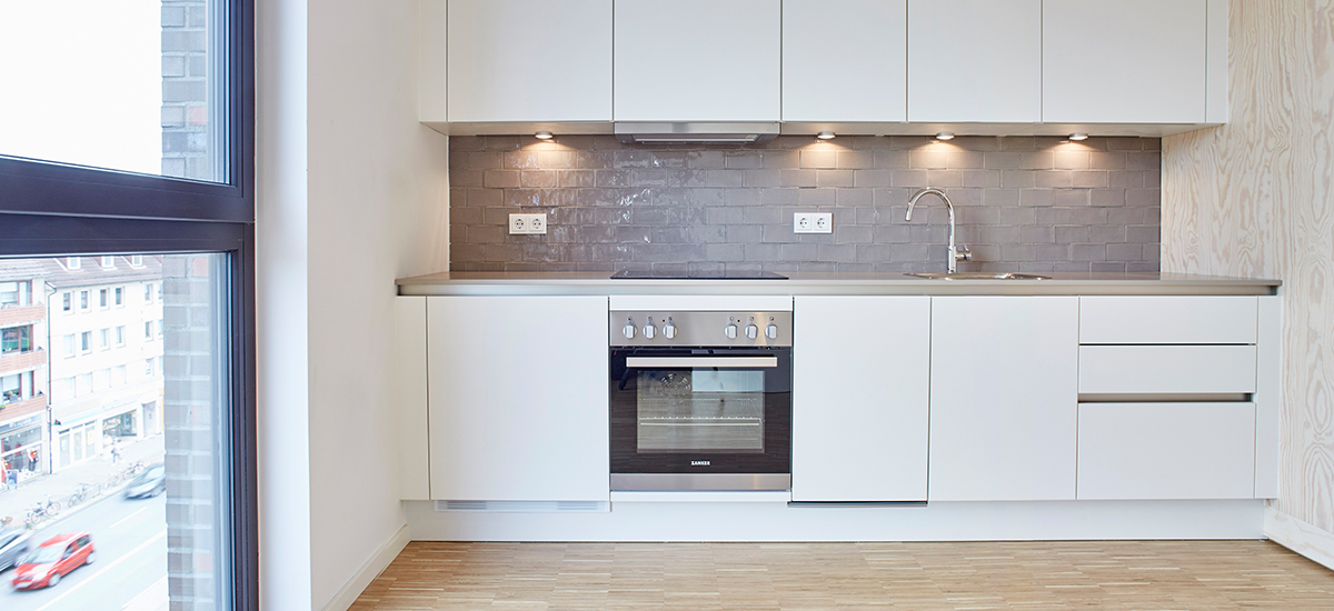 Nachhaltige Holzküche für das Projekt H99