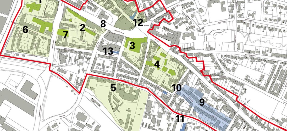Karte des Projektgebietes für die energetische Stadtsanierung Bergedorf-Süd
