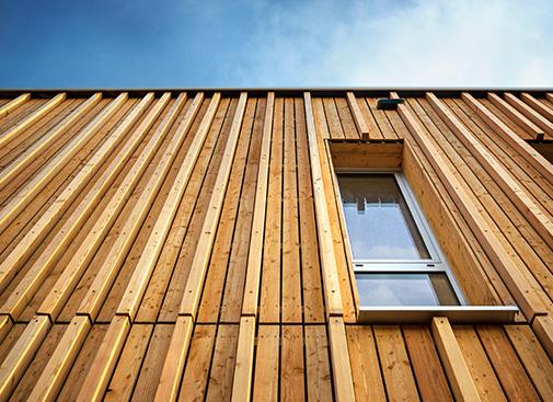 Nachhaltige Urbainity Holzfassade