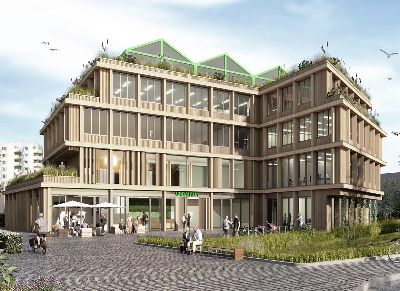Urbainity Work House als Holzbau für Co-Working Spaces