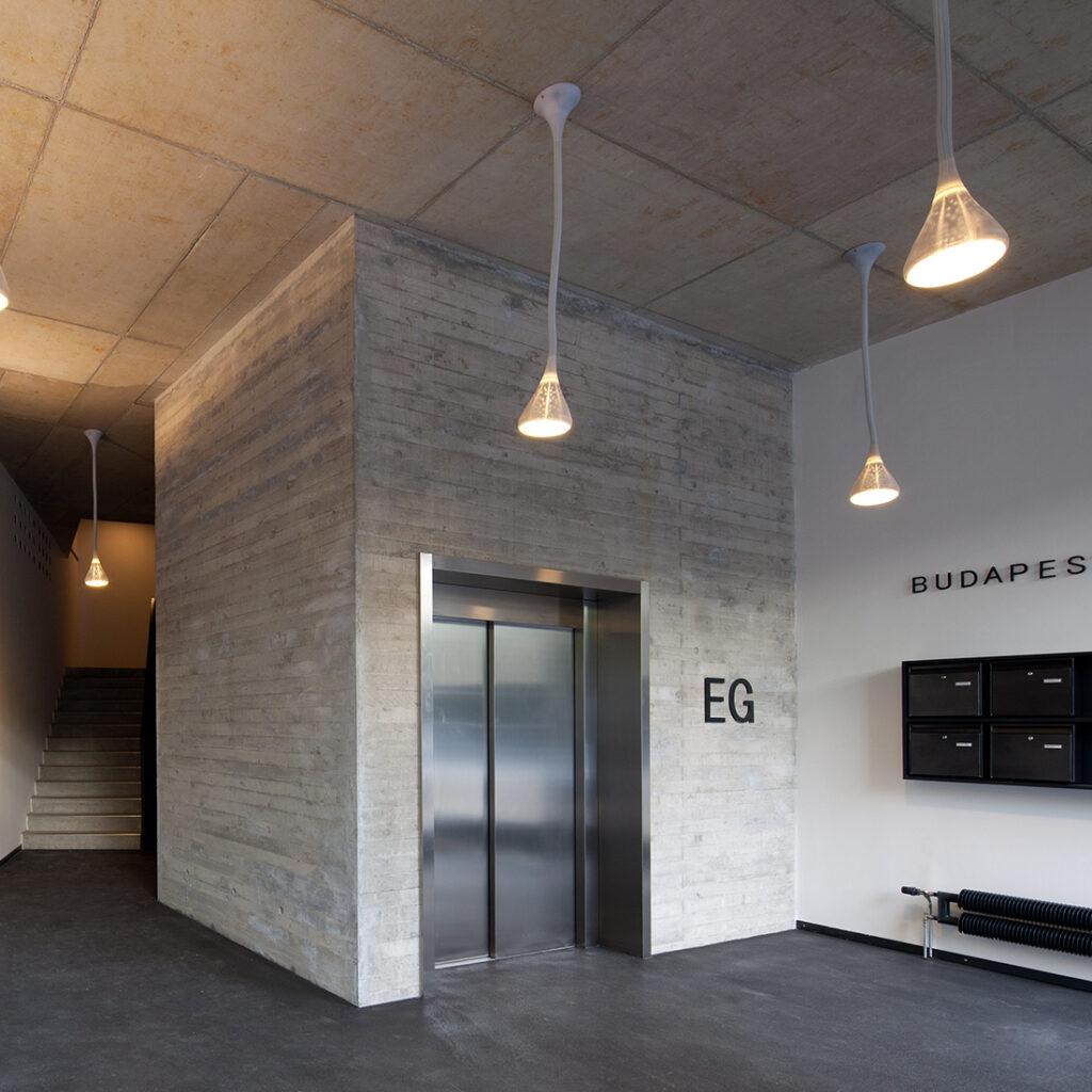 Sichtbeton in der Projektentwicklung Budapester Lofts