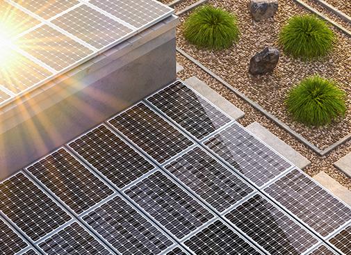 Regenerative Versorgung der Urbainity Gebäude