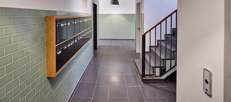 Treppenhaus des Neubauprojektes Lucente