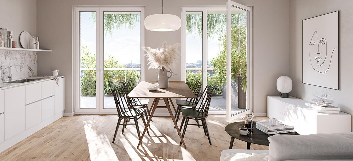 Wohnen mit begrünten Balkonen und Fassaden
